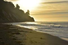 Alba affascinante sulla costa di California Fotografia Stock Libera da Diritti