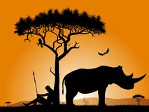 Alba in Africa illustrazione vettoriale