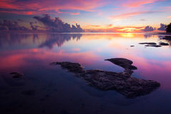 Alba al Borneo, Sabah, Malesia Fotografia Stock