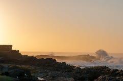 Alba al campo di resto della foce delle tempeste Fotografia Stock Libera da Diritti