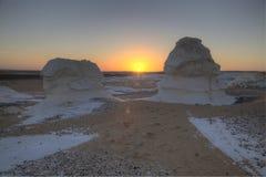 Alba al deserto bianco Fotografia Stock Libera da Diritti