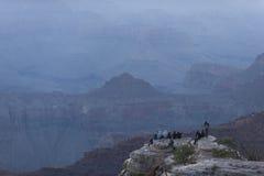Alba al grande canyon Fotografie Stock Libere da Diritti