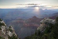 Alba al grande canyon Fotografie Stock