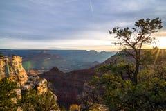 Alba al grande canyon fotografia stock