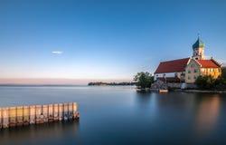 Alba al lago di Costanza Immagine Stock Libera da Diritti