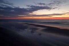 Alba al Mar Baltico nel heringsdorf della Germania Fotografie Stock Libere da Diritti