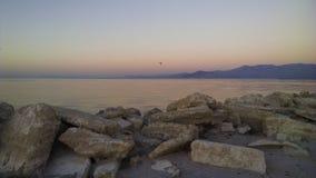 Alba al mare di Salton fotografia stock libera da diritti