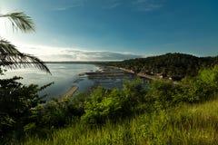 Alba al paesino di pescatori - Donsol Filippine Immagine Stock Libera da Diritti