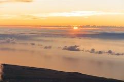 Alba al picco del vulcano Teide Tenerife Fotografia Stock