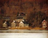 Alba al porto freddo della sorgente, NY Fotografie Stock