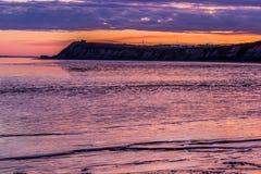 Alba al punto di Clarks su Bristol Bay fotografia stock