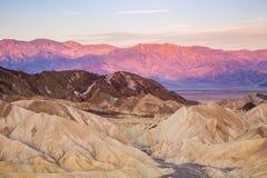 Alba al punto di Zabriskie nel parco nazionale di Death Valley, California, U.S.A. Fotografia Stock Libera da Diritti