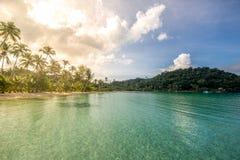 Alba all'isola Fotografia Stock Libera da Diritti