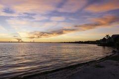 Alba all'isola di Sanibel Immagini Stock