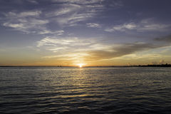Alba all'isola di Sanibel Immagini Stock Libere da Diritti