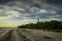 Alba all'isola di Sanibel Fotografia Stock