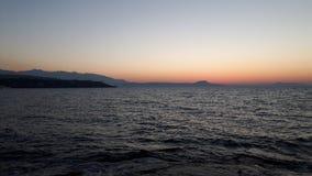 Alba all'oceano Fotografia Stock Libera da Diritti