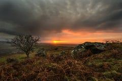 Alba alla collina di Caradon, Cornovaglia, Regno Unito Immagine Stock Libera da Diritti