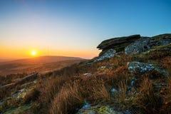 Alba alla collina di Stowe, Cornovaglia, Regno Unito Fotografia Stock Libera da Diritti
