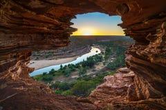 Alba alla finestra delle nature nel parco nazionale di kalbarri, Australia occidentale 3 fotografia stock
