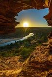 Alba alla finestra delle nature nel parco nazionale di kalbarri, Australia occidentale 20 immagine stock