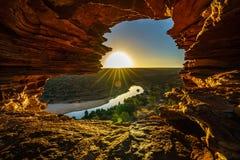 Alba alla finestra delle nature nel parco nazionale di kalbarri, Australia occidentale 21 fotografia stock