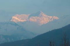 Alba alla montagna, Nepal Fotografia Stock