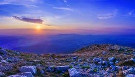 Alba alla montagna Rtanj Fotografia Stock