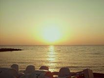 Alba alla spiaggia Immagine Stock