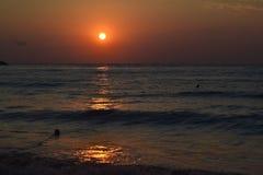 Alba alla spiaggia Immagine Stock Libera da Diritti