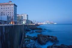 Alba alla spiaggia famosa di Avana Immagine Stock