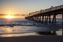 Alba alla spiaggia la Gold Coast, Queensland, Australia dello sputo fotografia stock libera da diritti