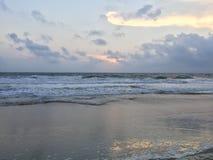 Alba alla spiaggia la Virginia di Sandbridge Fotografia Stock Libera da Diritti