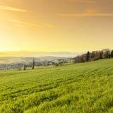 Alba in alpi svizzere Immagine Stock