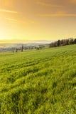 Alba in alpi svizzere Immagini Stock Libere da Diritti
