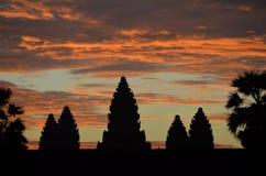 Alba a Angkor Wat antico fotografie stock libere da diritti