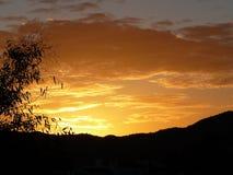 Alba arancio Fotografia Stock Libera da Diritti