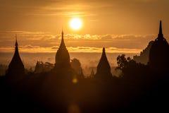 Alba a Bagan Fotografia Stock Libera da Diritti