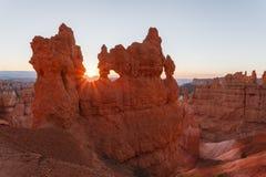 Alba a Bryce Canyon National Park Fotografia Stock Libera da Diritti