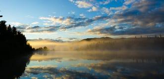 Alba a Buckley Lake fotografia stock