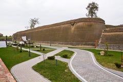 Alba Carolina. Alley inside citadel Alba Carolina,Alba Iulia,Romania royalty free stock photography