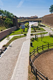 Alba Carolina Fortress-Cetatea de la Alba Iulia stock image