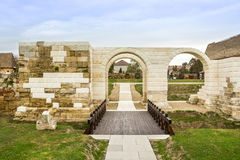 Alba Carolina Fortress-Roman Camp Gate Royalty Free Stock Photo