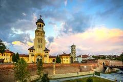 Alba Carolina fortress, Romania. Fortified churches inside Alba Carolina Fortress, Alba Iulia, Transylvania, Romania stock photography