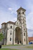 Alba Carolina, il 15 giugno: St Michael Cathedral da Alba Carolina Fortress in Romania Immagini Stock Libere da Diritti