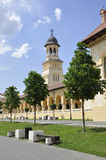 Alba Carolina,June 15:Coronation Cathedral from Alba Carolina Fortress in Romania royalty free stock images