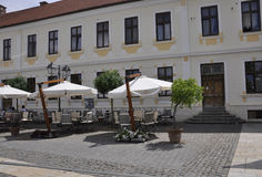 Alba Carolina,June 15:Terrace from Alba Carolina courtyard in Romania royalty free stock image