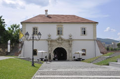 Alba Carolina, am 15. Juni: Flugsteig IV von Alba Carolina Fortress in Rumänien Lizenzfreie Stockfotografie