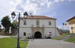Alba Carolina, am 15. Juni: Flugsteig IV von Alba Carolina Fortress in Rumänien Lizenzfreie Stockbilder