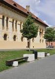 Alba Carolina, 15 Juni: Het Hoofdkwartier van de kroningskathedraal van Alba Carolina Fortress in Roemenië Royalty-vrije Stock Fotografie